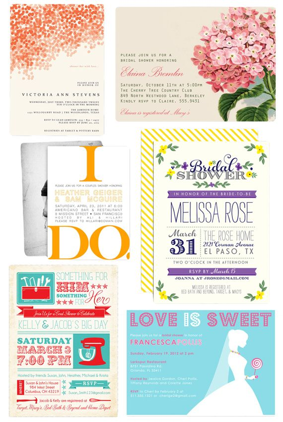 How to Plan a Modern Bridal Shower - Invites