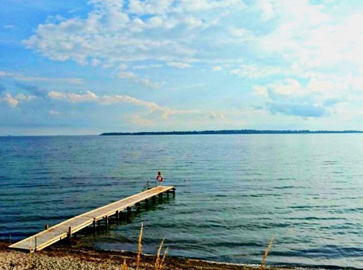 Frei stehen in Schweden, hier direkt am Vänern See