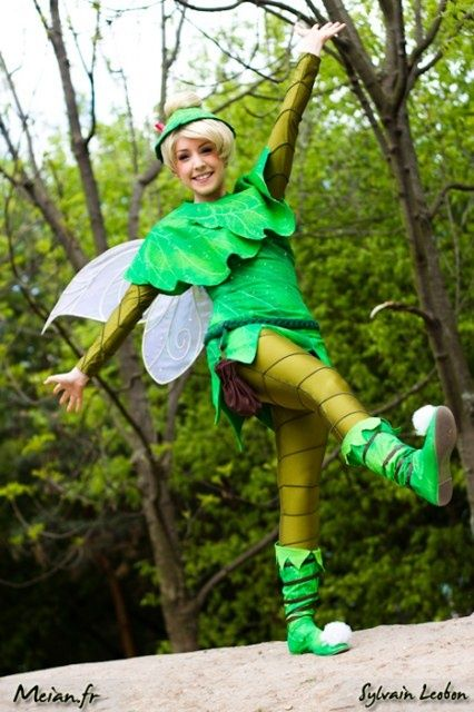 I already made a tinkerbell costume for Joey, but it will be too cold. Thinking about altering it to this so she won't be too cold.