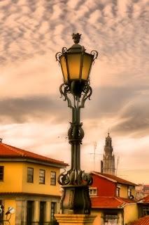 Candeeiro no Largo da Sé do Porto