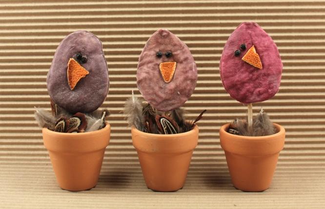 påskepynt - #kyllinger af #vatrondeller
