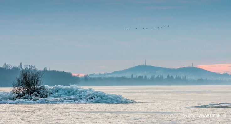 Lake Balaton, winter, photography, ice, snow