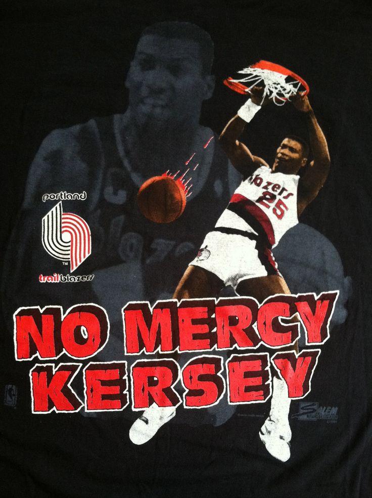 Vintage 1991 BLAZERS Tshirt/ UNWORN No Mercy KERSEY Portland Trail Blazers Tshirt/  Number 25 Rip City Tee. $35.00, via Etsy.