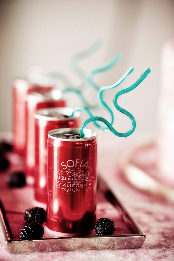 little cans of champagne - perfect for picnics or concerts in the park
