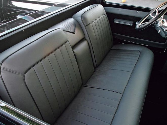 1963 Chevy C10 Black leather Seats