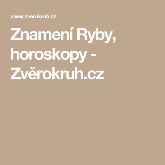Znamení Ryby, horoskopy - Zvěrokruh.cz