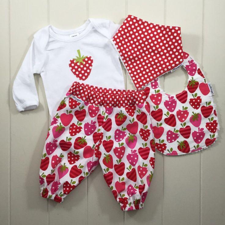 Strawberry baby gift set $50, Little Poppet