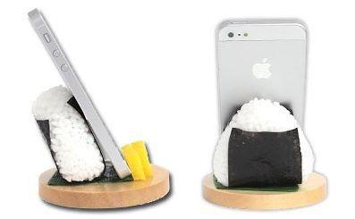Stand per smartphone che sembrano cibo vero