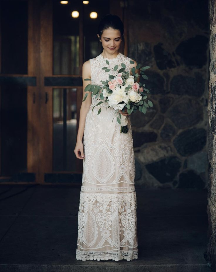 Chic Boho Roane Gown From Bhldn Photo Via Frees Frame