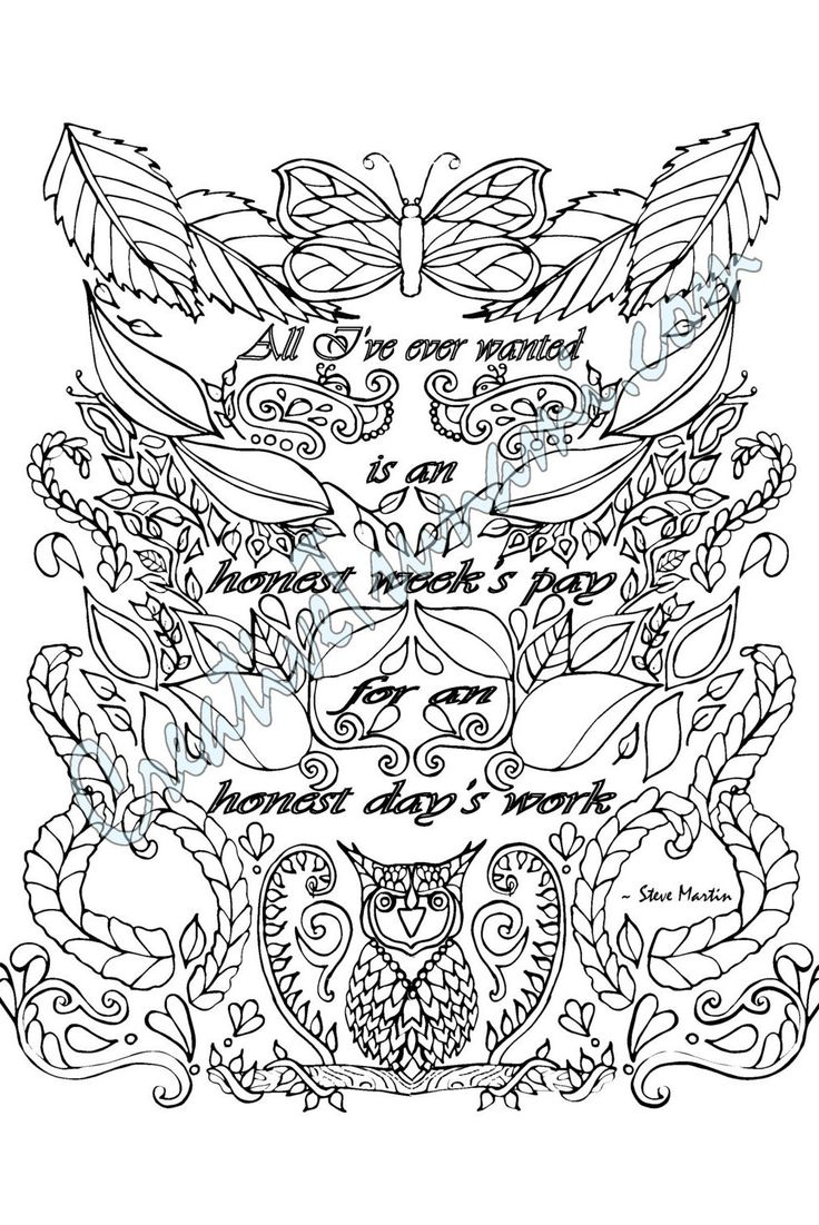 Coloring Page Honest Week's Pay by CreativeTsunami on Etsy