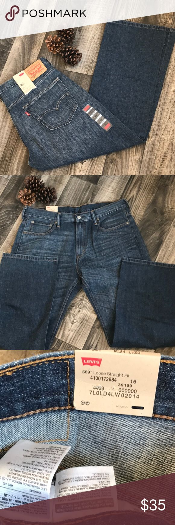 🌿NWT- Levi 569 Loose Straight Fit- 34x30🌿 NWT- Levi 569 Loose Straight Fit, size 34x30. Never been worn, excellent condition and smoke free home!! Levi's Jeans Straight