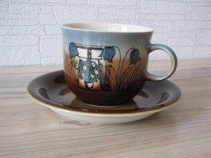 Arabia FOR MOTHER coffee cup and saucer ,year 1978, designed by GOG and Heljä Liukko Sundström