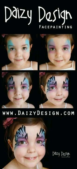 Step by step eye by Daizy Design face paint how to