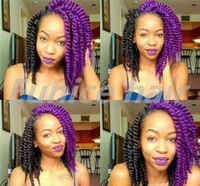 Purple Color Havana Mambo Twist Crochet Synthetic Braiding Hair Extensions 1pack Only