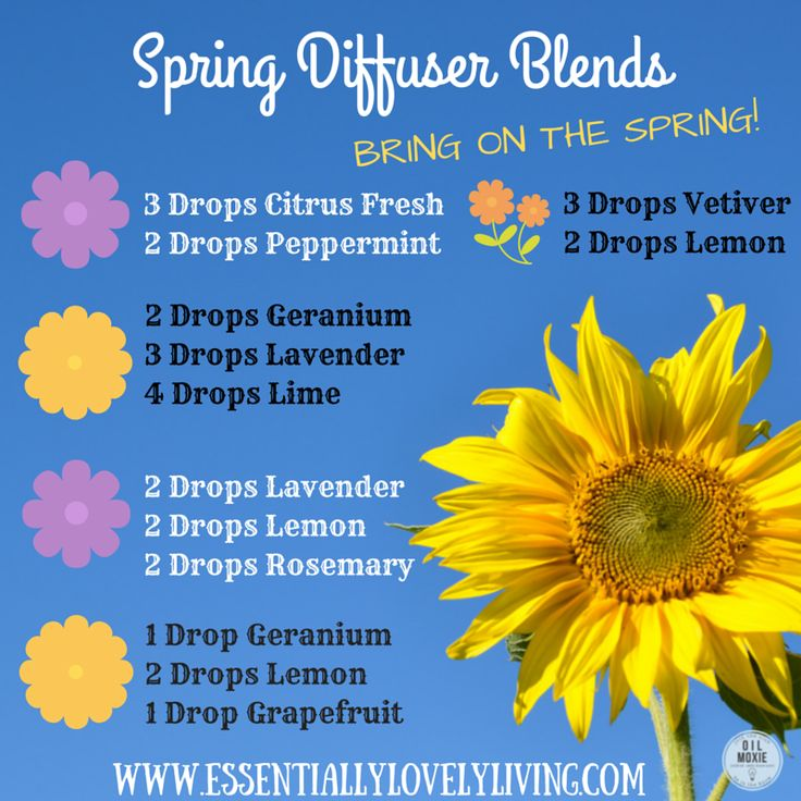 Spring is here! Essential oil diffuser blends