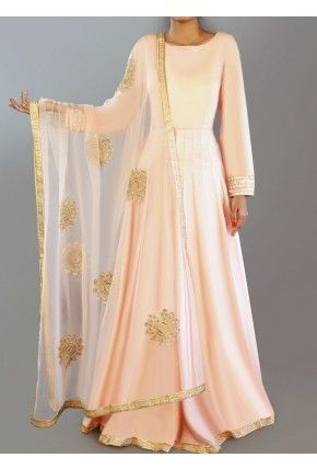 Blush Dhupioni Silk Anarkali