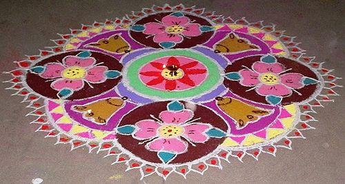 #Diwali Rangoli Design