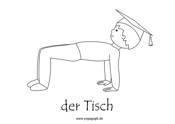 kinderyoga ausmalbild tisch  yoga für kinder kinderyoga