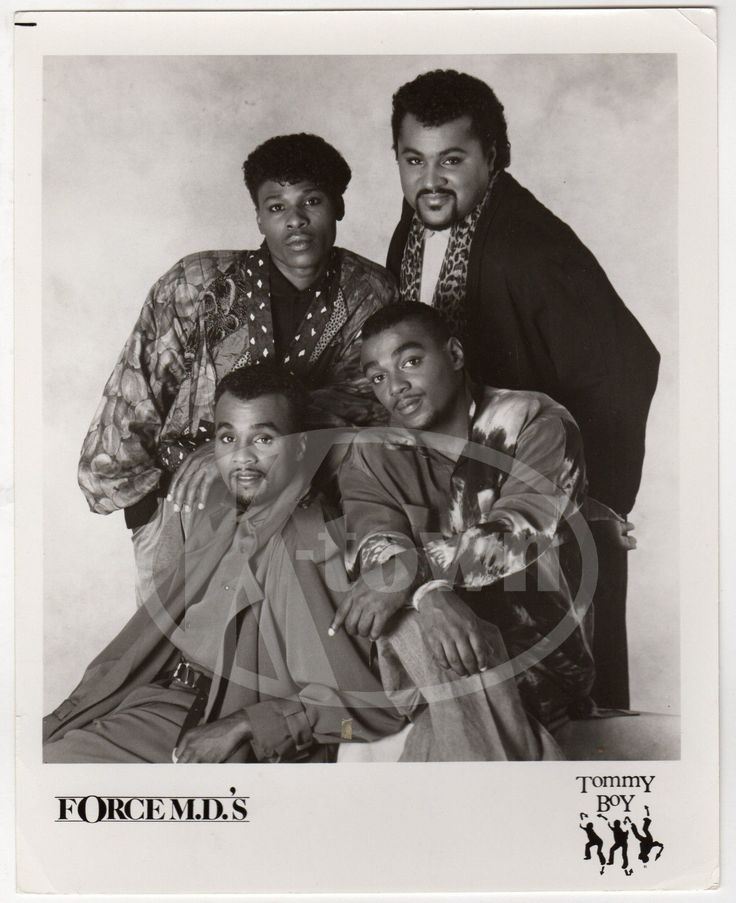 FORCE MD'S NEW JACK SWING HIP HOP MUSIC NEW YORK VINTAGE STUDIO PROMO PHOTO