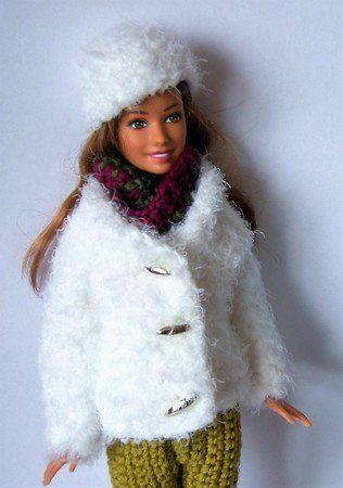 Häkelanleitung: Pelzjacke, Pelzmütze, Loop für Barbie Ankleidepuppen ...