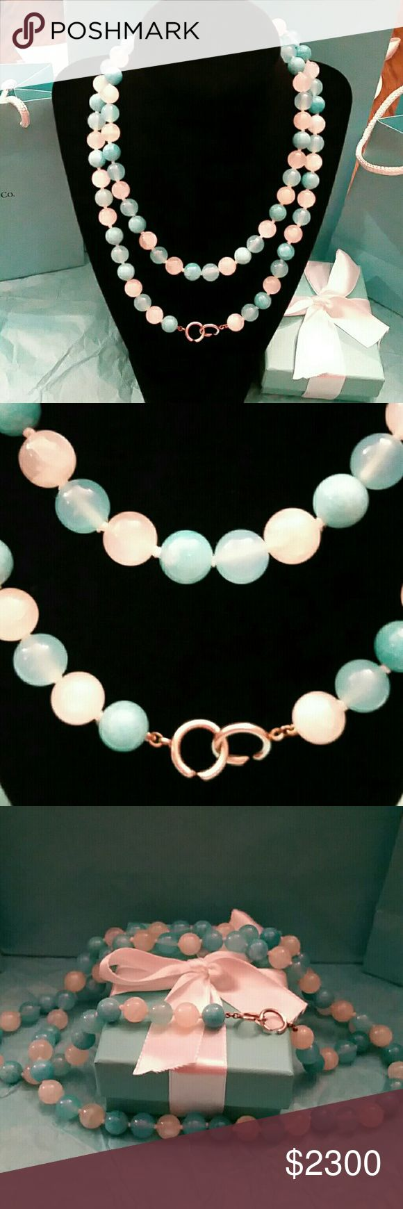 """Retired Tiffany & Co. Multi Gemstone Bead Ncklace Stunning Authentic Retired Rare Multi Gemstone (Amazonite, Chalcedony, Quartz) 36"""" Paloma Picasso Necklace! Excellent Practically New Condition! Qualifies for Free Poshmark Concierge Authentication Service! Includes Authentic Tiffany Box, Pouch, Ribbon & Gift Bag. Ready to wear or Gifted! Going for way more on other sites (see last pic)! Great gift for yourself orGraduation Gift! Reasonable offers considered!  Please allow up to 2 days to…"""