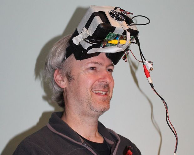 Picture of Raspberry PI night vision goggles.