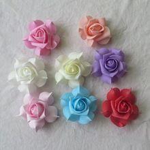 6 CM artificial rosas de espuma eva floral buds heads, arranjos de artesanato diy buquê de casamento, beijando bola, diodo emissor de luz, decoração para o carro, arch!(China (Mainland))