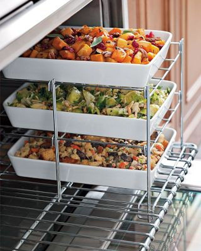 This would make Thanksgiving cooking infinitely easier. Found one on amazon! http://www.amazon.com/gp/product/B0018DYWFM?psc=1&redirect=true&ref_=od_aui_detailpages01: Kitchens, Ideas, Three Tiered, The Holidays, Side Dishes, Williams Sonoma, Ovens Racks, Products, Tiered Ovens