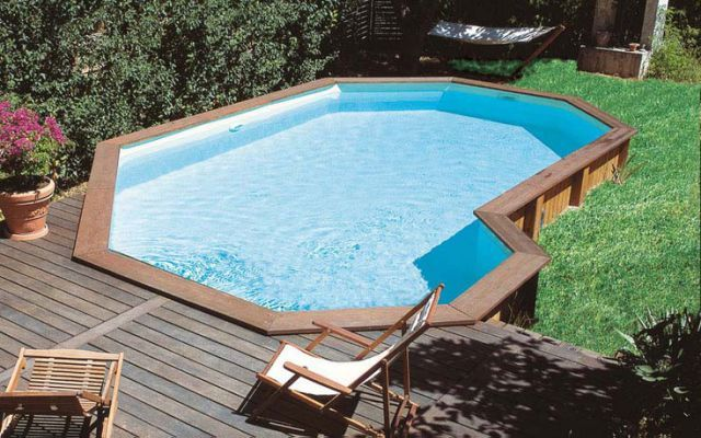 1000 ideas about semi inground pools on pinterest above for Above ground pool decks indianapolis