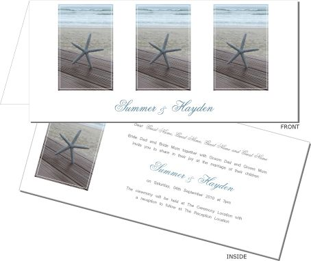 Love the tranquility of this beach wedding invitation. To order or view the collection go to: www.allyourinvites.com.au