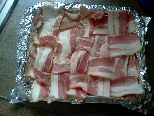 Bacon weave before