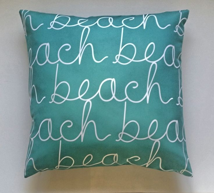 Miami Beach Throw Pillow Cover