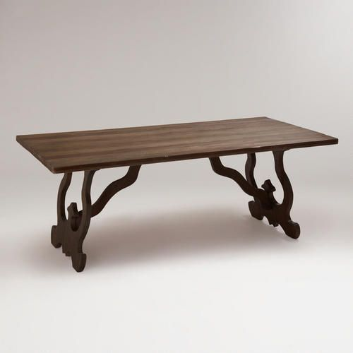 One of my favorite discoveries at WorldMarket.com: Weathered Gray Romeo Dining Table