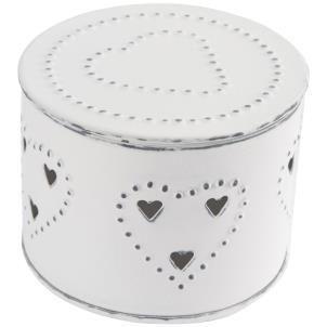 Isla vintage white round box