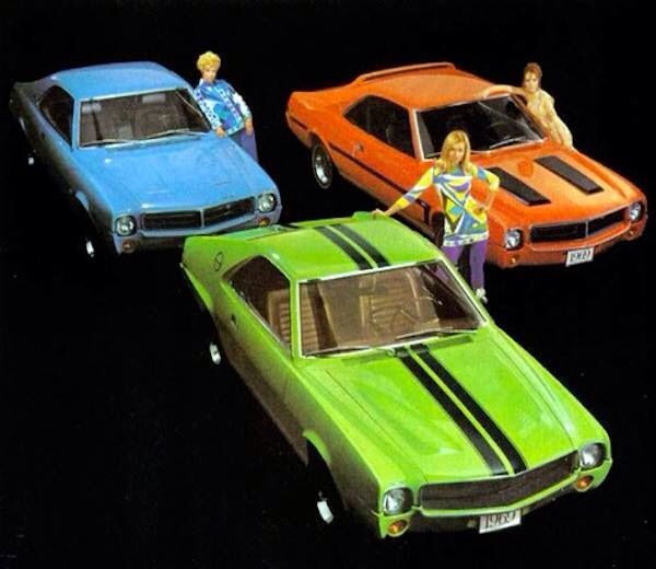 """AMC For 1969 The """"BIG BAD COLORS"""" AMX And The Mod Javelin"""