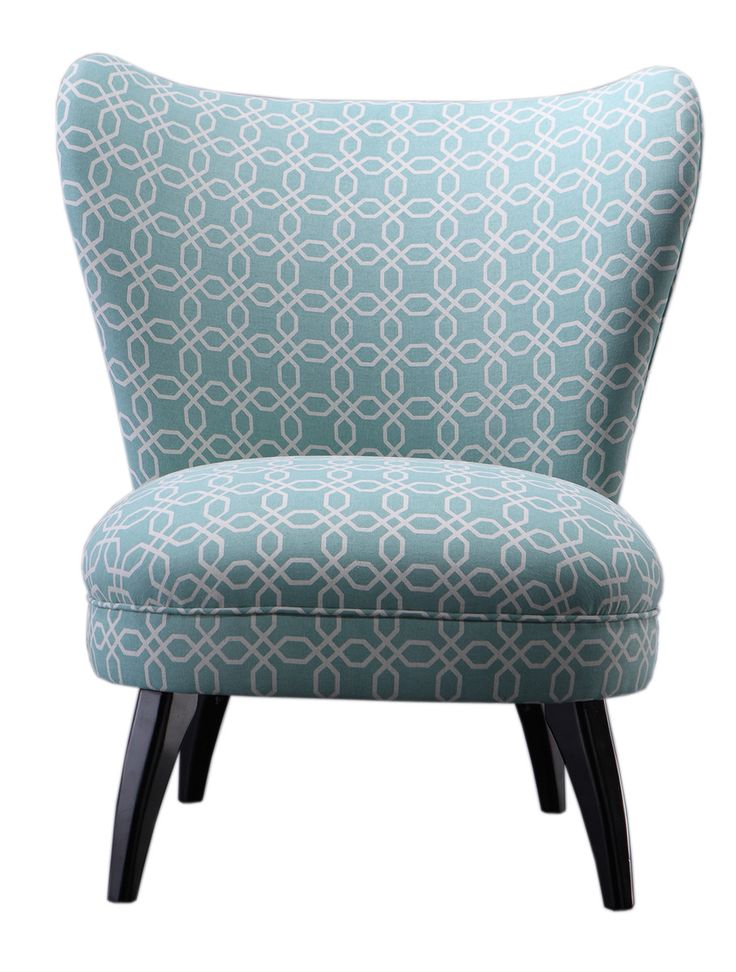 SAM® Sessel hellblau Stoffbezug Muster LENI Auf Lager ! - Ansicht 2