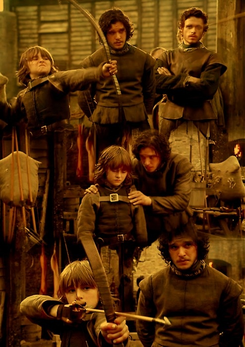 Ahhhh, the early days, when the Stark boys could just hang at Winterfell