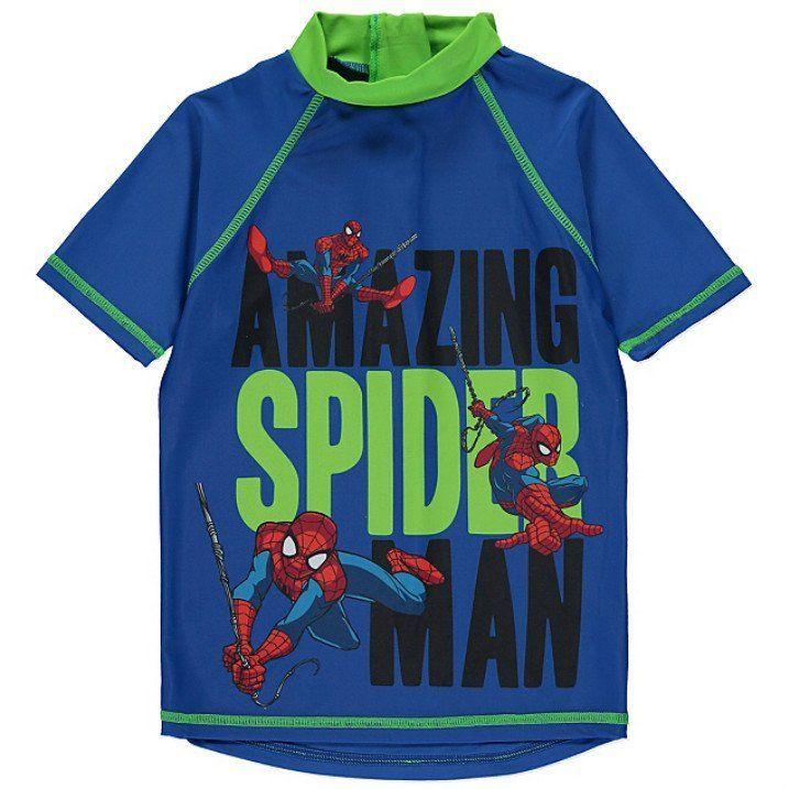 Boys Spiderman UV Shirt