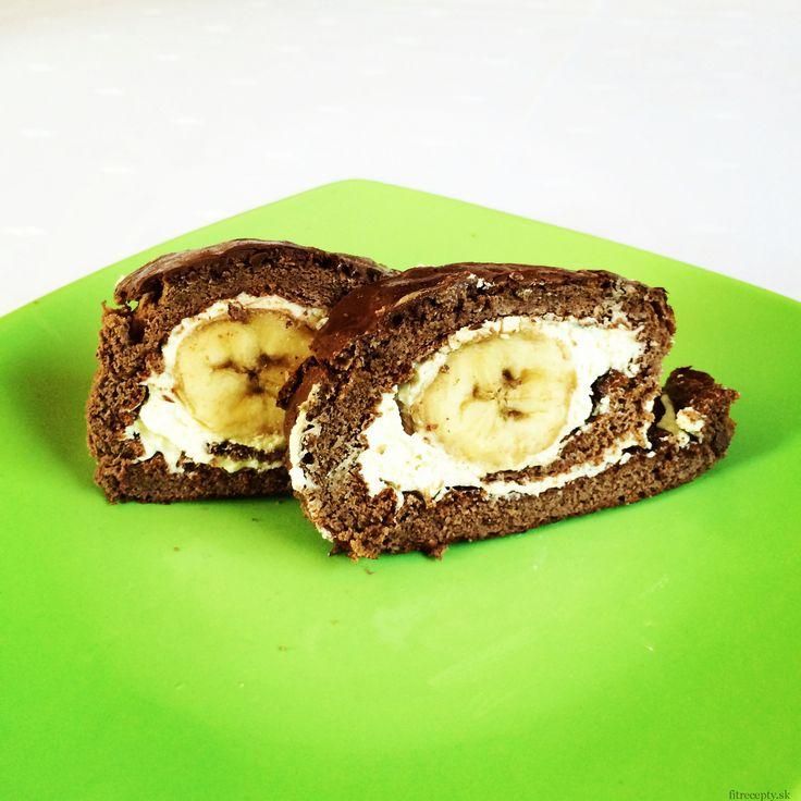 Banánová roláda (lze použít i jiné ovoce - borůvky a vynechat polevu)