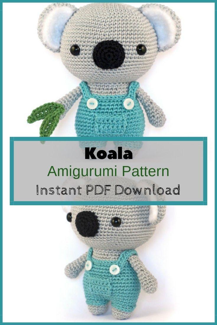 Crochet Koala Free Pattern - Kaya the Koala - The Loopy Lamb | 1102x735