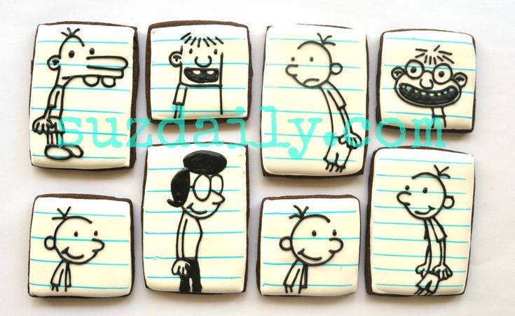 "Tutorial on how to make ""Diary of a Wimpy Kid"" Cookies  - www.suzdaily.com"