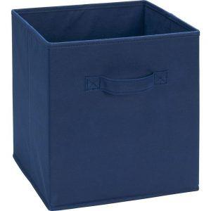 Navy Blue Cloth Storage Bins