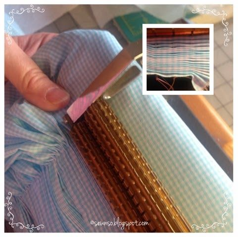 SewNso's Sewing Journal: Pleating Gingham...with success!