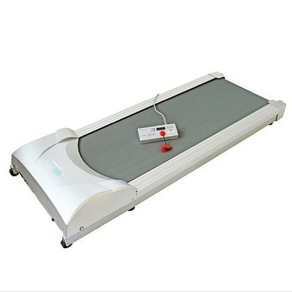 Turn your standing desk into a treadmill desk instantly with our under desk treadmill base. Low price, portable, easy to set up.