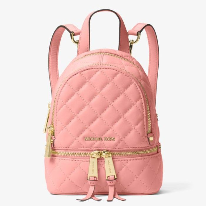 6c14d7f0637c MICHAEL Michael Kors Rhea Extra-Small Quilted-Leather Backpack Pink Sale!  Up to 75% OFF! Shop at Stylizio for women s and men s designer handbags