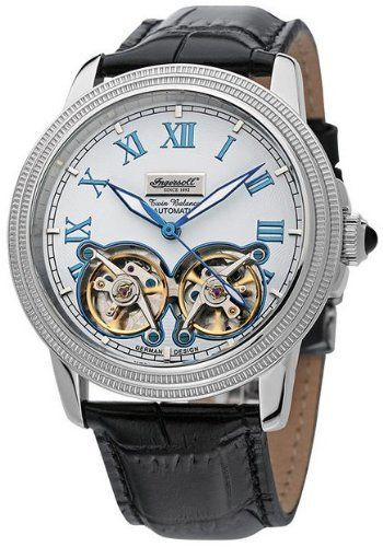Ingersoll Men's IN1818WH Automatic Austin Watch Ingersoll. $452.00. Automatic movement. Hardened mineral crystal. Water-resistant to 165 feet (50 M). Dual balance wheel bar displat. Exhibition back; German design