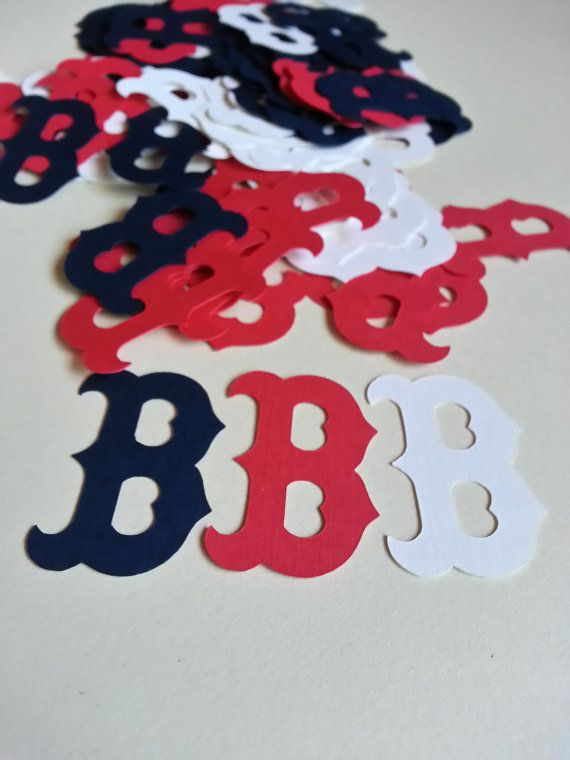 MLB Red Sox JUMBO Table Confetti  100 Pieces by GigisShop805