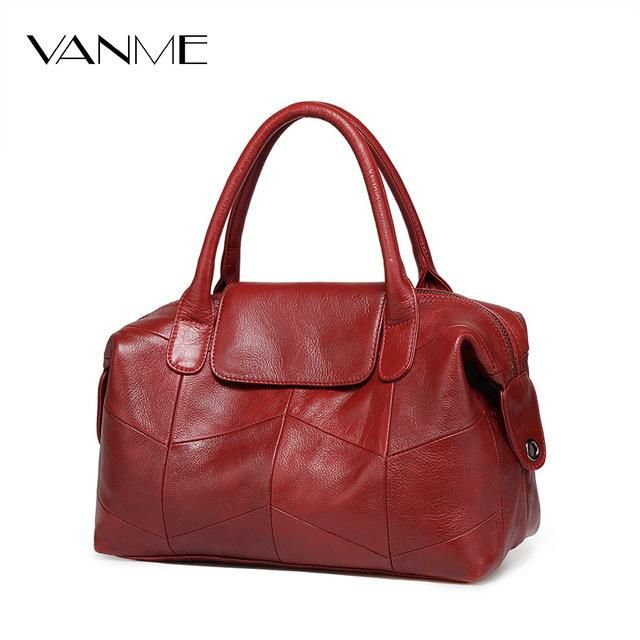 1e370c548764 2018 New Women Genuine Leather Boston Bag Europe Style Simple Handbag  Fashion Trend Shoulder Bag office lady Tote handbag