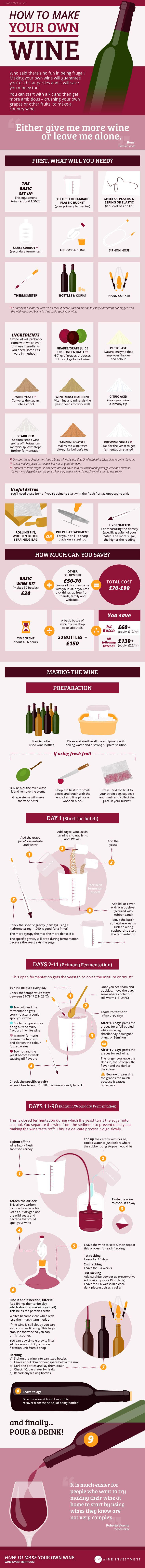 How to Make Your Own Wine #infographic