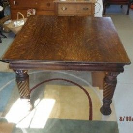antique quarter sawn oak dining table and chairs. quarter sawn oak dining table with two leaves and center leg-$275 reference for my uncle\u0027s i have (ones i\u0027ve seen in antique shops were listed at chairs
